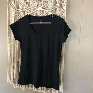 Zella black work out short sleeve t-shirt size med